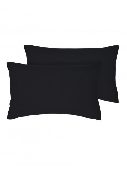 Luxury Percale 200 Thread Count Housewife Pillowcase Pair Black