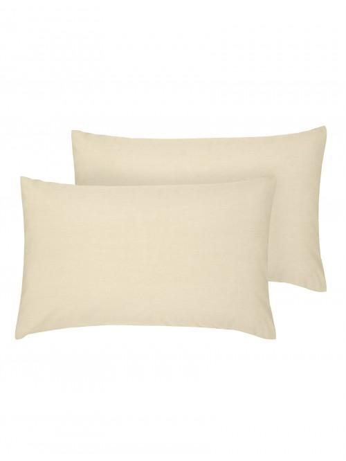 Luxury Percale Housewife Pillowcase Pair Buttermilk