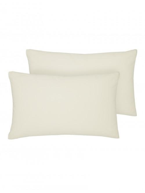 Luxury Percale 200 Thread Count Housewife Pillowcase Pair Buttermilk