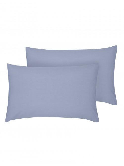 Luxury Percale 200 Thread Count Housewife Pillowcase Pair Denim