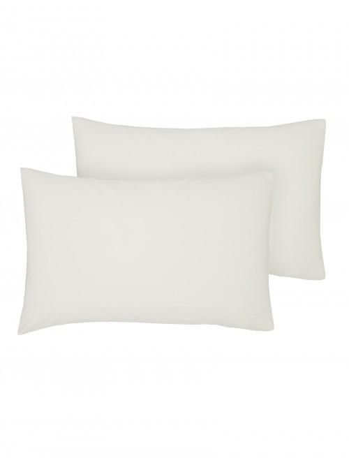 Luxury Percale 200 Thread Count Housewife Pillowcase Pair Ecru