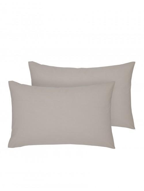Luxury Percale 200 Thread Count Housewife Pillowcase Pair Latte