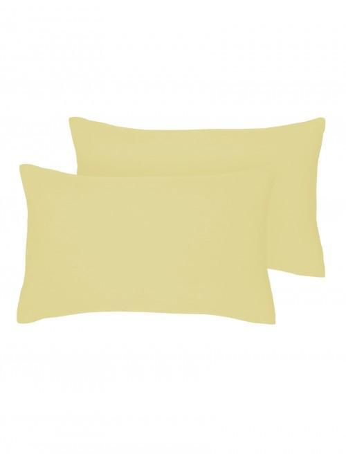 Luxury Percale Housewife Pillowcase Pair Lemon