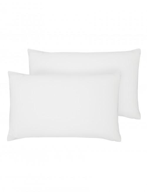 Luxury Percale 200 Thread Count Housewife Pillowcase Pair White