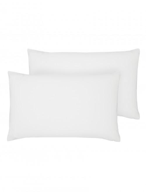 Luxury Percale Housewife Pillowcase Pair White