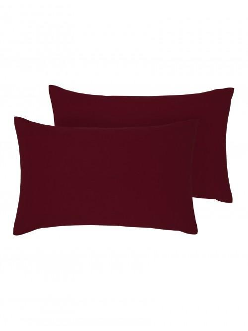Luxury Percale 200 Thread Count Housewife Pillowcase Pair Wine