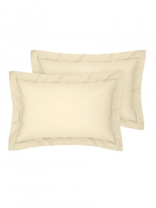 Luxury Percale Oxford Pillowcase Pair Buttermilk