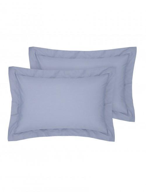 Luxury Percale 200 Thread Count Oxford Pillowcase Pair Denim Blue