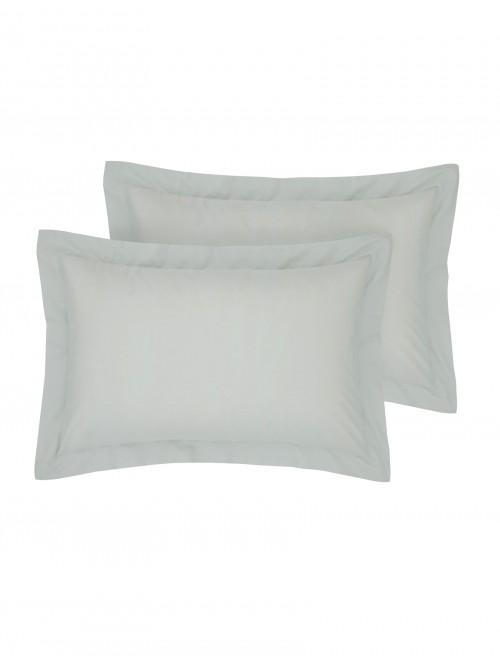 Luxury Percale 200 Thread Count Oxford Pillowcase Pair Duck Egg