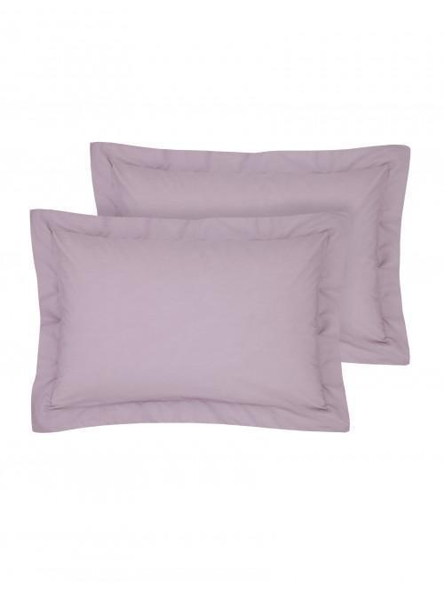 Luxury Percale 200 Thread Count Oxford Pillowcase Pair Heather