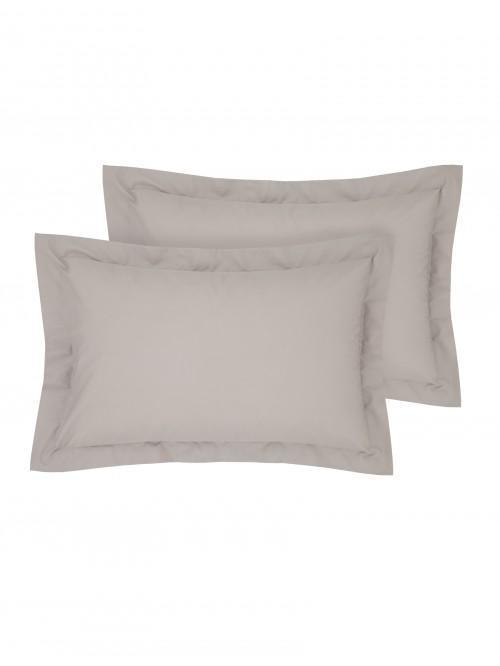 Luxury Percale 200 Thread Count Oxford Pillowcase Pair Latte