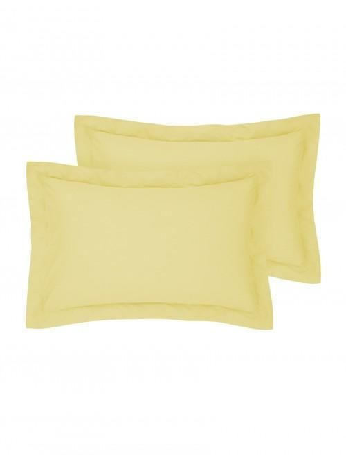 Luxury Percale Oxford Pillowcase Pair Lemon