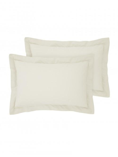 Luxury Percale 200 Thread Count Oxford Pillowcase Pair Oyster
