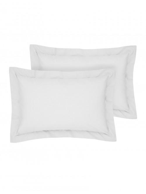 Luxury Percale Oxford Pillowcase Pair Silver