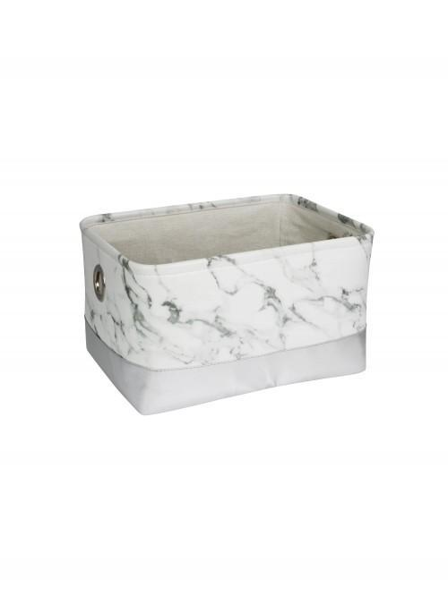 Marble Effect Storage Tray Sml White