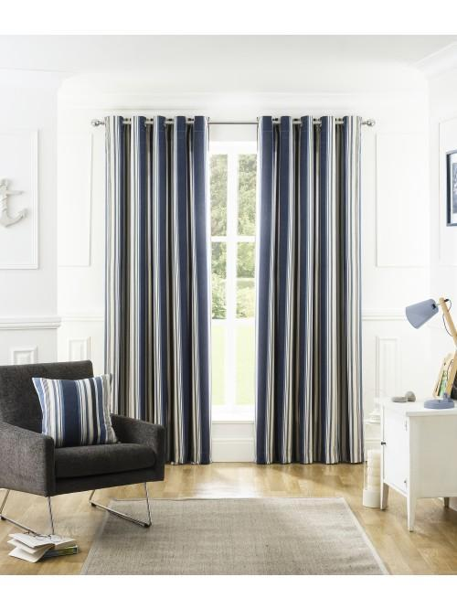 Marina Eyelet Curtains Navy