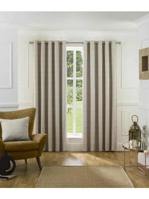 Mason Blackout Eyelet Curtains Natural