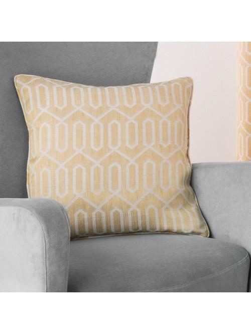 Mason Curtain Cushion Ochre