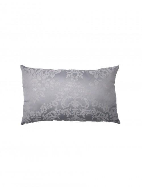 Metallic Damask Jacquard Cushion Silver