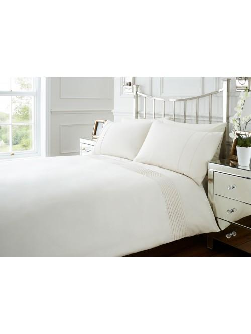 Hotel Mini Pleats Duvet Set Cream