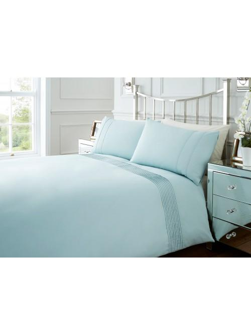 Hotel Collection Mini Pleats Duvet Set Duck Egg