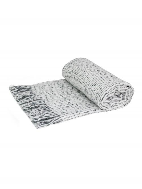 Faux Mohair Throw Grey