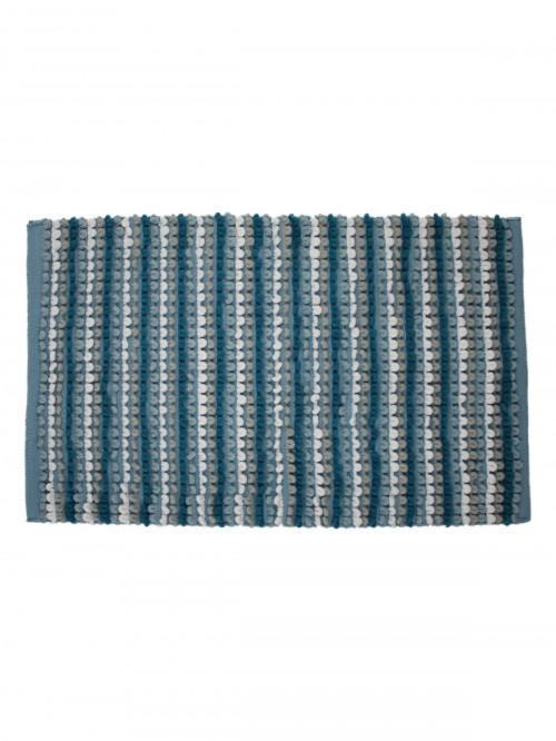 Multi Stripe Bathmat Aqua