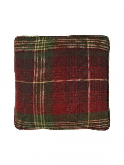 Murray Woven Check Cushion Red