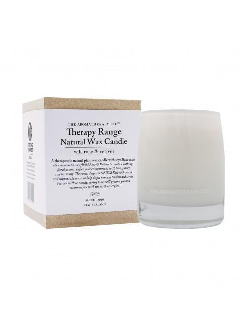 260g Natural Wax Candle Wild Rose & Vetiver