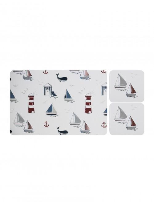 Linear Boathouse Placemat And Coaster Set