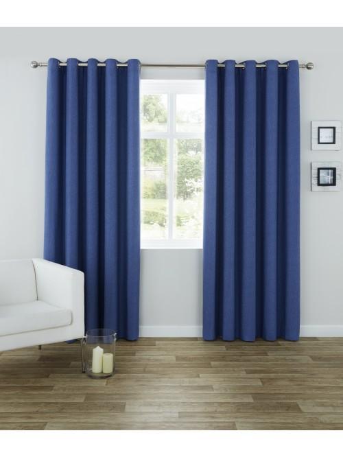 Nevada Eyelet Curtains Navy