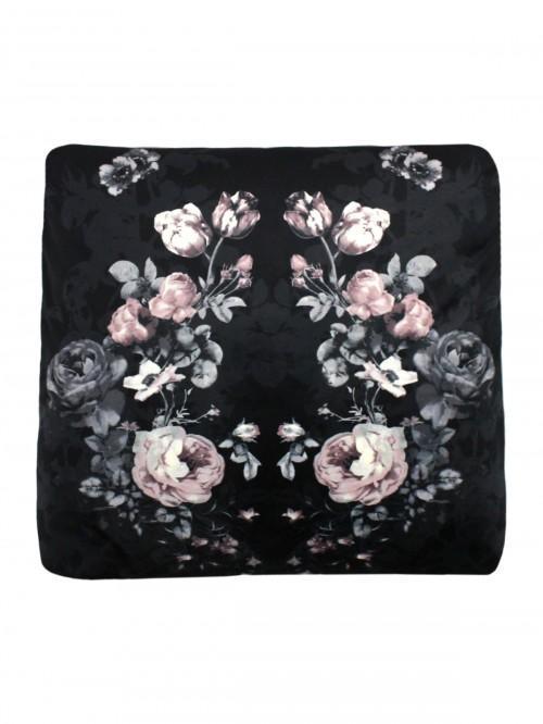 Noir Velvet Printed Cushion