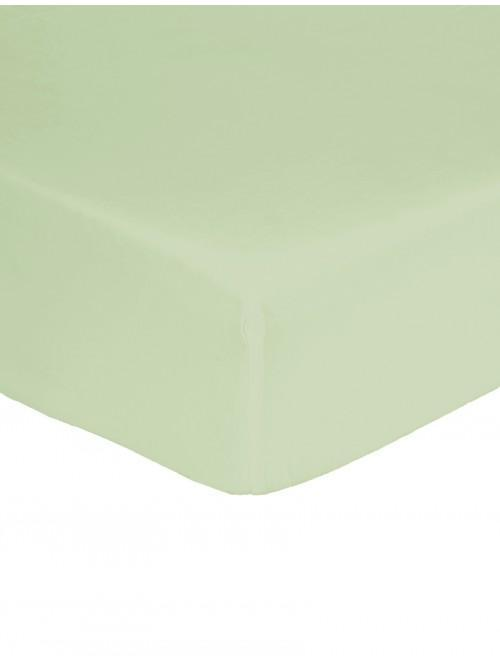 Non Iron Fitted Sheet Fern Green