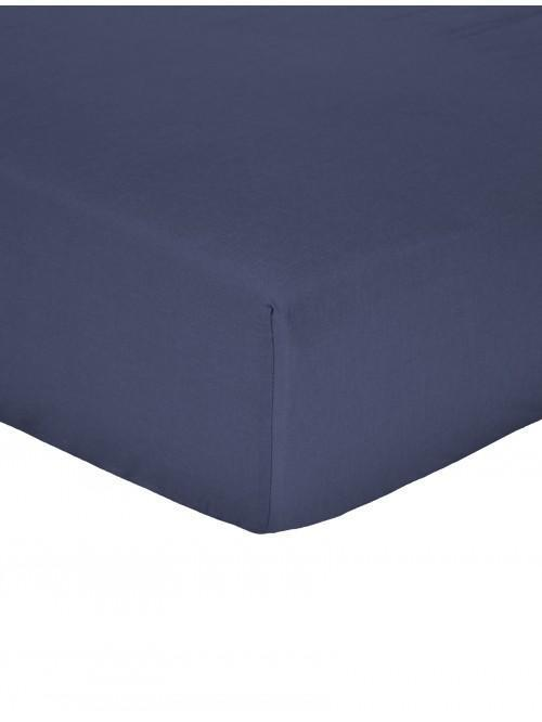 Non Iron  Box Pleat Valance Sheet Navy