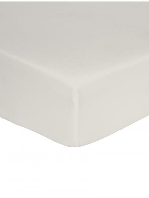 Non Iron Box Pleat Platform Valance Cream