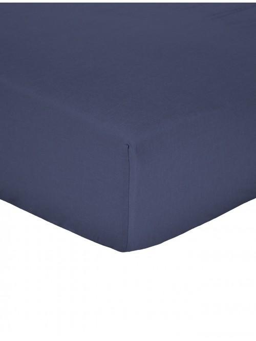 Non Iron Fitted Sheet Navy
