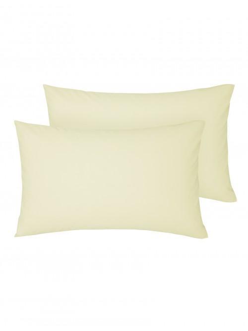Non Iron Housewife Pillowcase Pair Cream