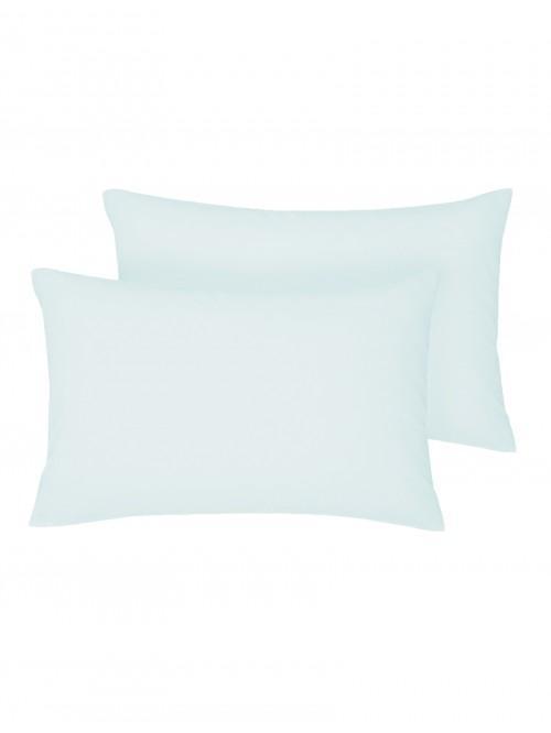 Non Iron Housewife Pillowcase Pair Cornflower