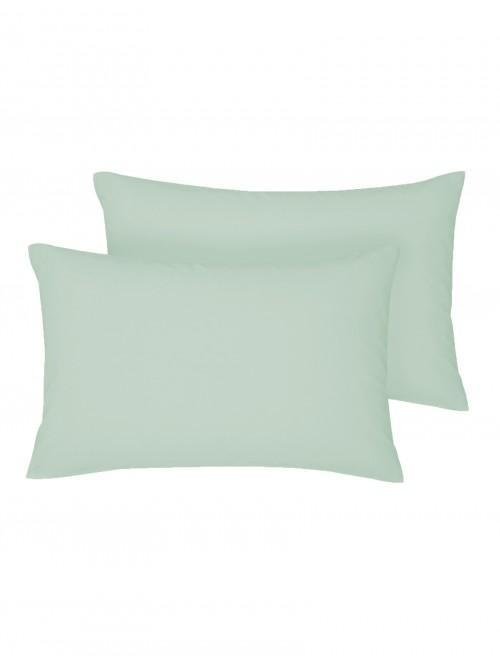 Non Iron Housewife Pillowcase Pair Cornflower