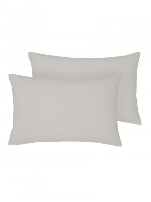 Non Iron Housewife Pillowcase Pair Grey