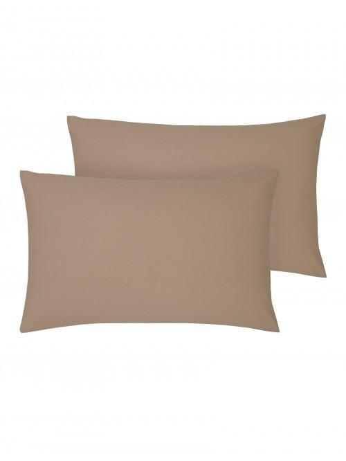Non Iron Housewife Pillowcase Pair Espresso