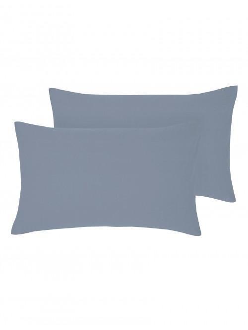 Non Iron Housewife Pillowcase Pair Marine
