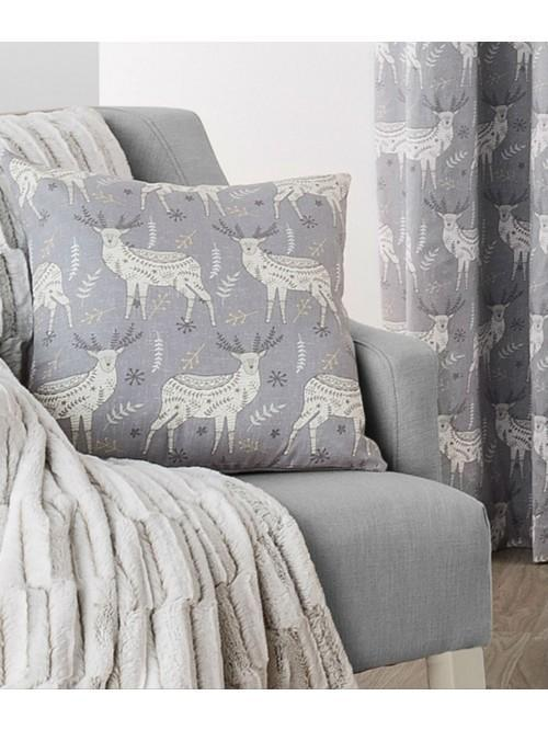 Nordic Stag Curtain Cushion Natural