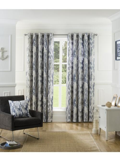 Oceana Eyelet Curtains Navy