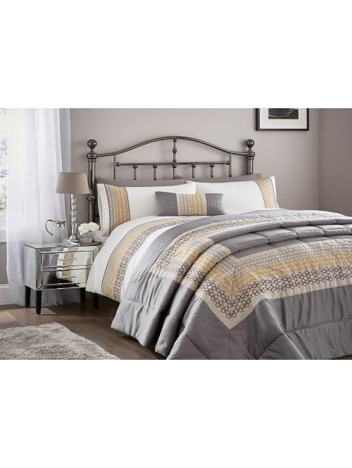 Ochre Geo Panel Bedding Collection Natural