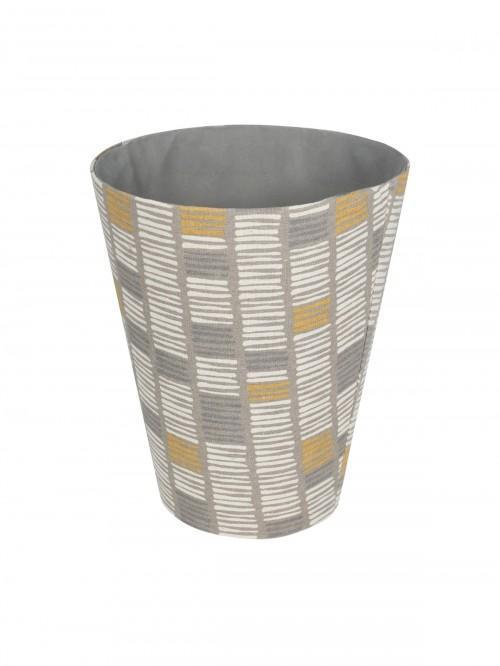 Ochre Stripe Waste Basket