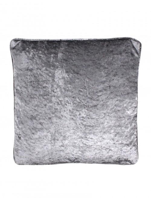 Opulence Crushed Velvet Cushion Silver