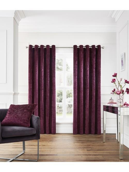 Opulence Eyelet Curtains Plum