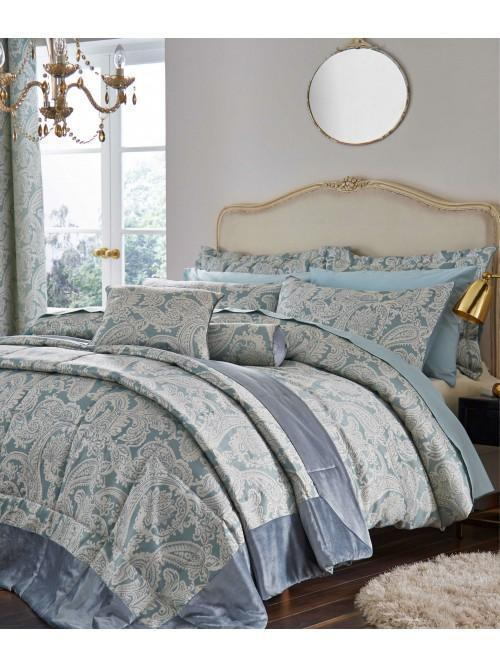 Catherine Lansfield Opulent Jacquard Bedding Collection Duck Egg