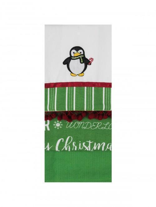 Embellished Penguin Tea Towel Set of 3